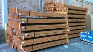 second hand colby pallet racking beams